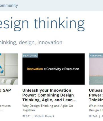 Design Thinking – Inspiracje od SAP